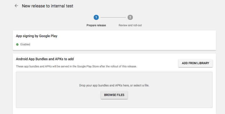Upload your Android App Bundle to the Google Play Console