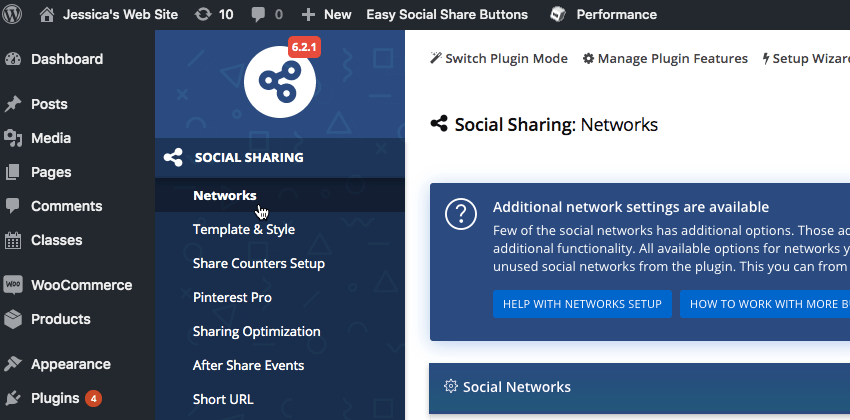 Navigate to Easy Social Share Buttons Networks
