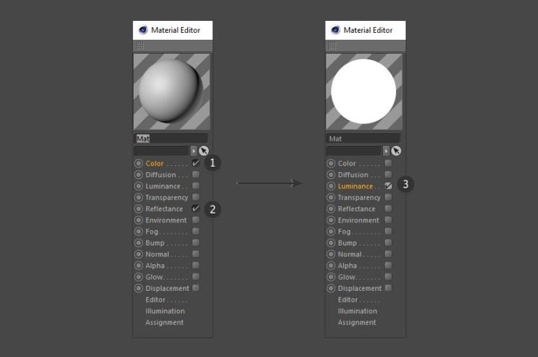 Edit the material editor properties