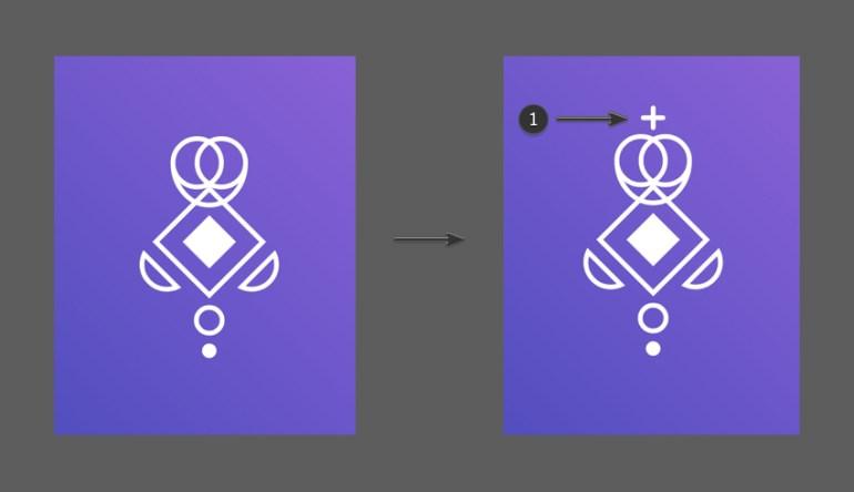 Add a cross shape using the Pen Tool