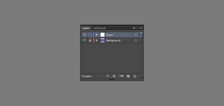 Set up the project layers in Adobe Illustrator