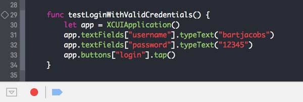 Creating UI tests is a breeze