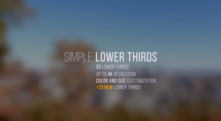 Simple Lower Thirds