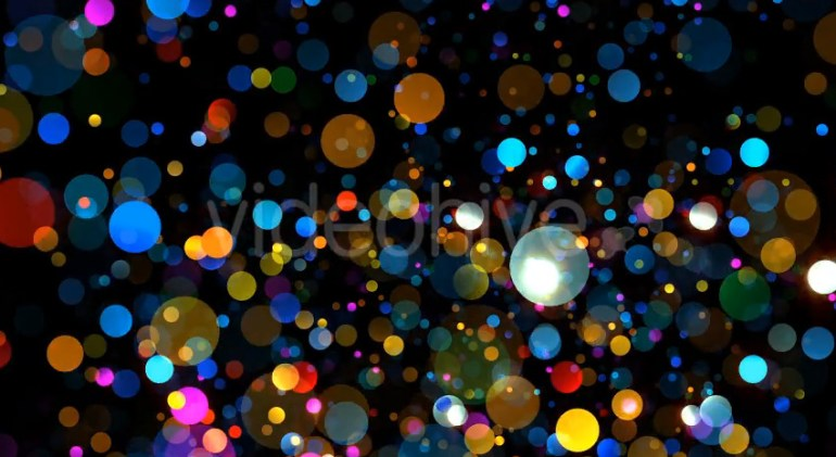 Colorful Particles Falling