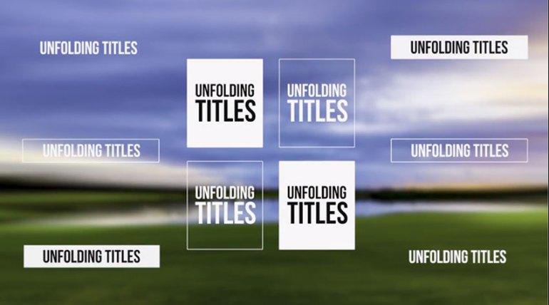 Unfolding Titles