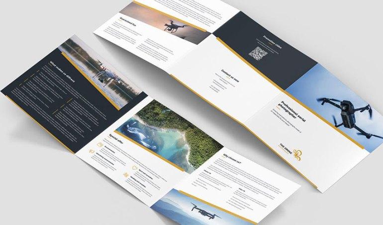 Brochure  Drone Photographer Tri-Fold Square