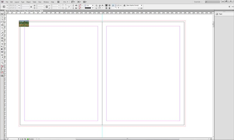 InDesign Drop Spread Into InDesign