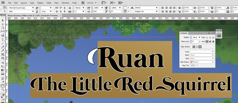 Ruan Stroke Adjustment in InDesign