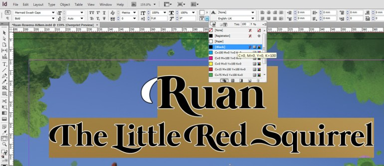 Ruan Add Stroke To Titles in InDesign
