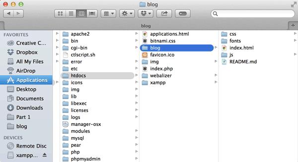 Put Bootstrap in blog folder
