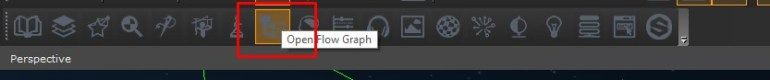 Open Flow Graph through the Editor toolbar