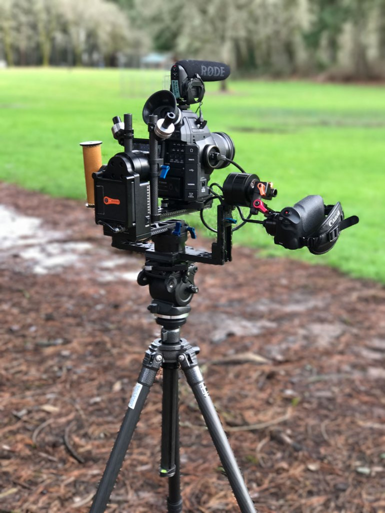 Video camera with brushless gimbal