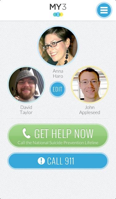 My 3 App homescreen