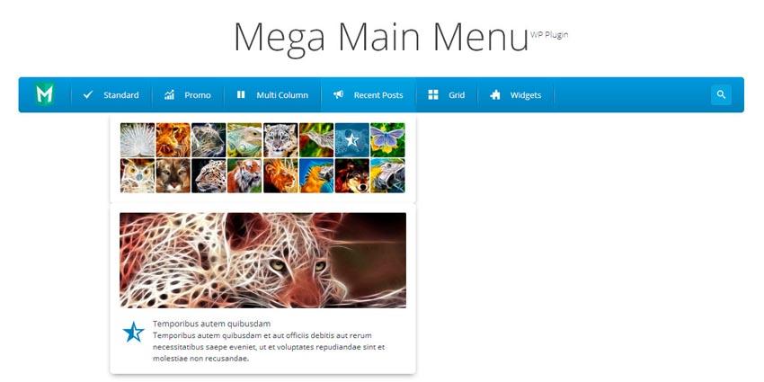 Mega Main Menu demo