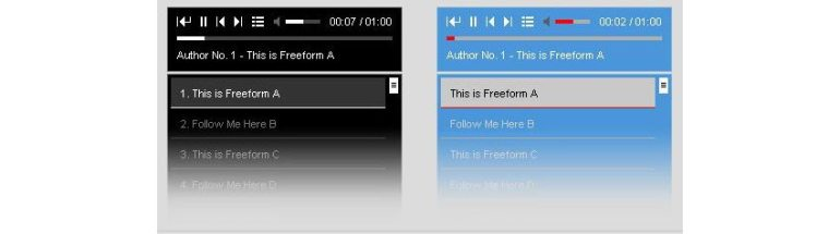 HTML5 WordPress audio player screenshot
