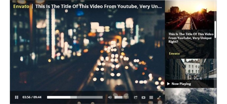 Responsive WordPress video player screenshot