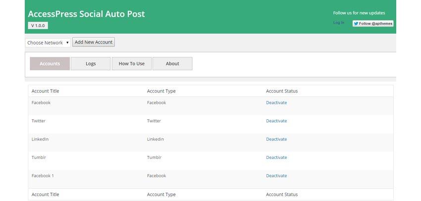 AccessPress Social Auto Post WordPress Social Media Plugin