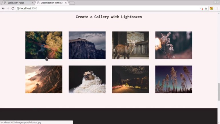 Lightbox gallery with no JavaScript