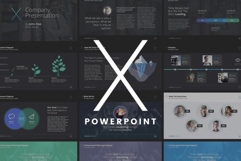 The X Note PowerPoint template