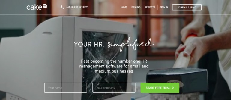 CakeHR website