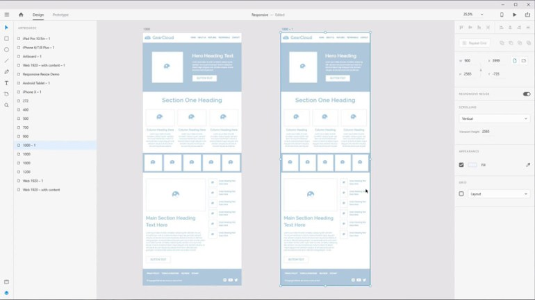 Responsive Design in Adobe XD