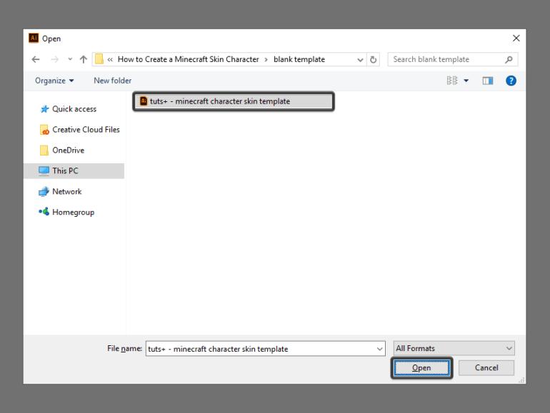 loading the custom template