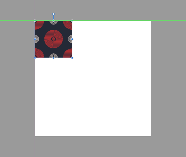 pasting the repeating pattern onto the larger artboard for the symbols method
