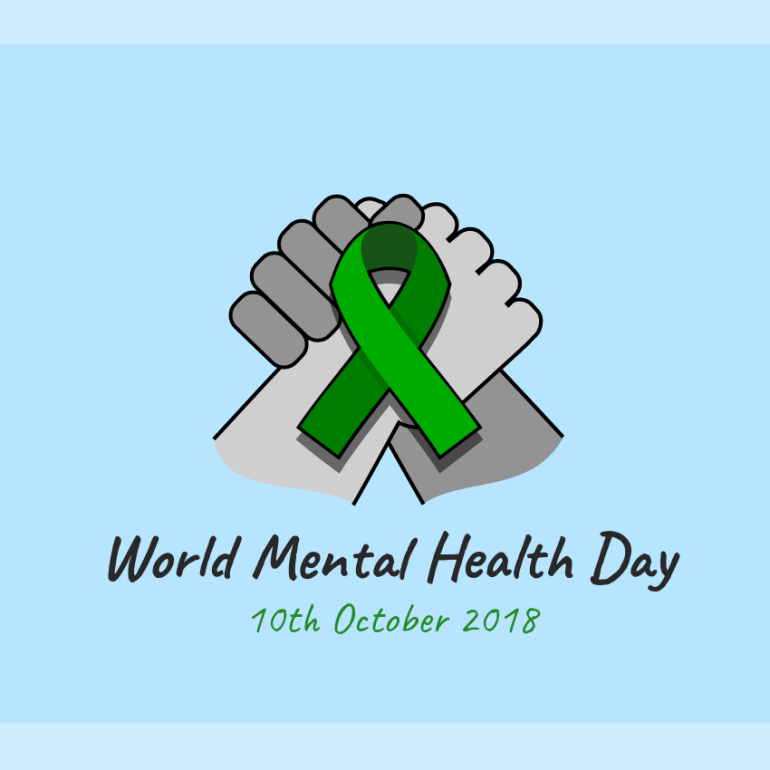 World Mental Health Day 2018 complete clasping hands animation