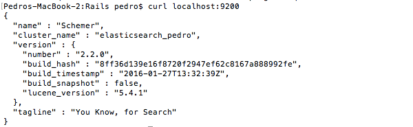 Elasticsearch running