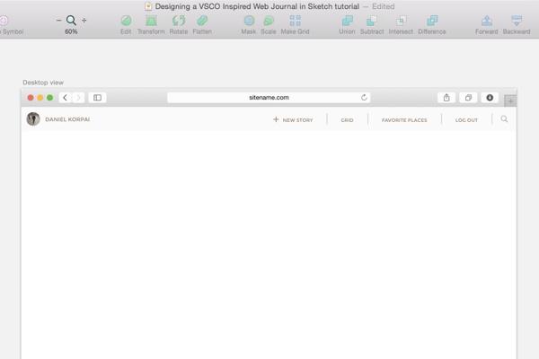 Desktop navigation