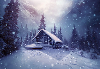 How To Create A Winter Landscape Photo Manipulation With