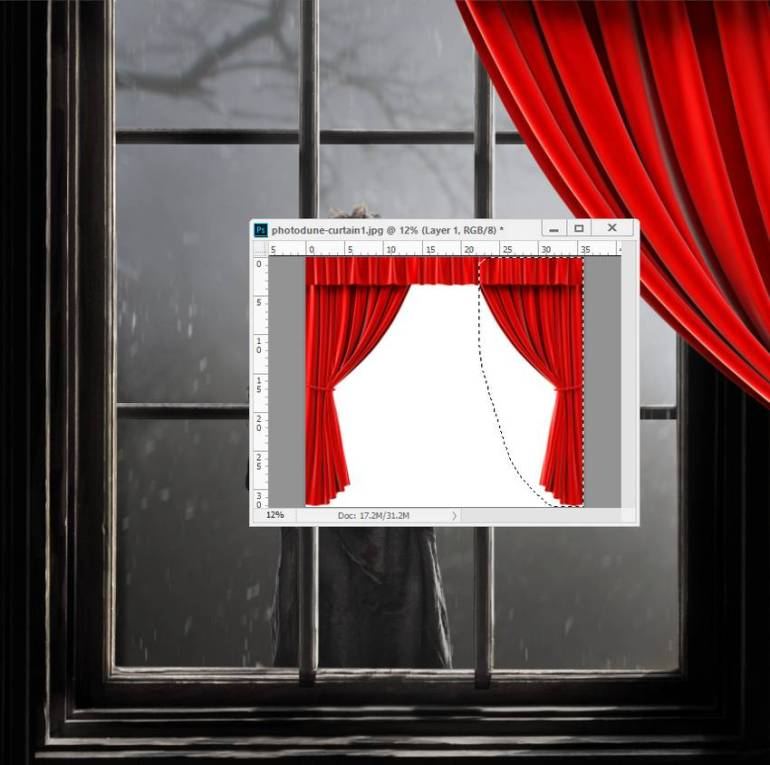 add curtain
