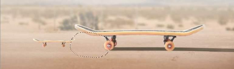 big skateboard shadow masking