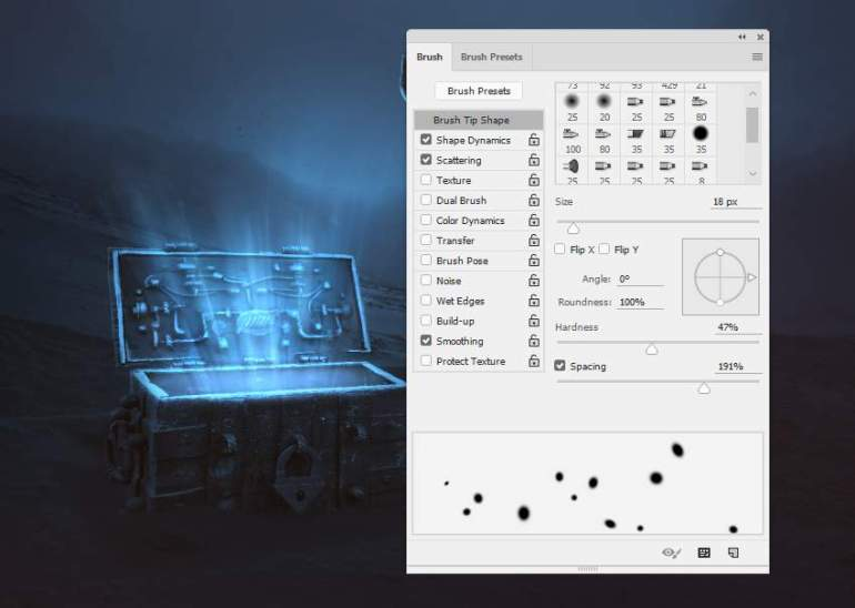 dot brush settings 1