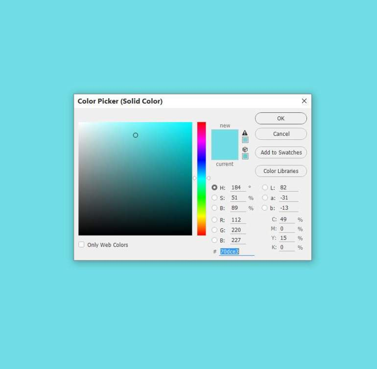 color fill background