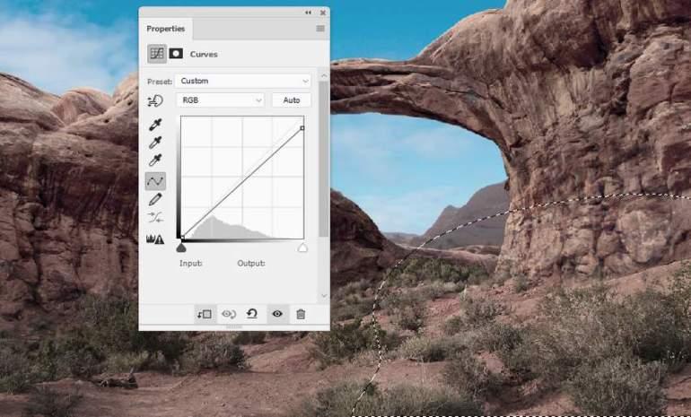 Photoshop Adjustment Layers - ground curves 2