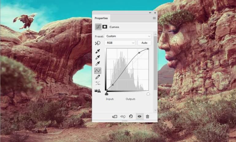 Photoshop Adjustment Layers  - whole scene curves