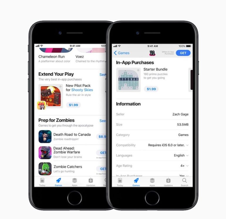 Marketing in-app purchases more visibly in the App Store source Apple
