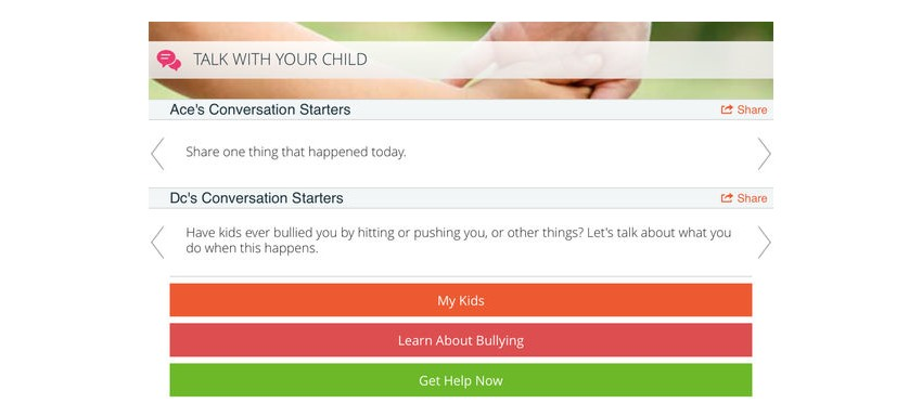 Know Bullying conversation starters