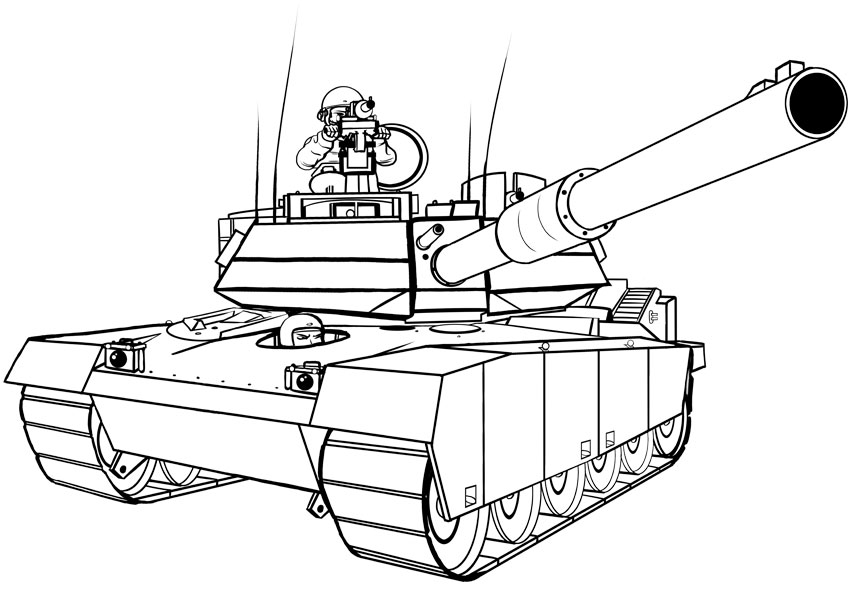 How To Draw An Army Tank