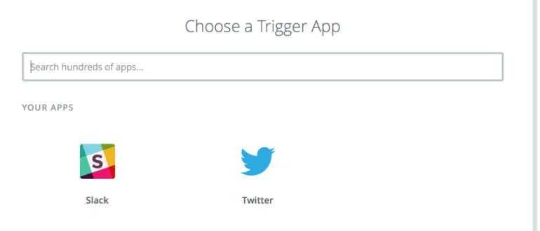 trigger app in Zapier