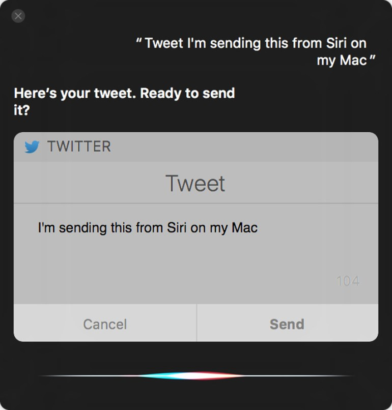 tweeting with Siri