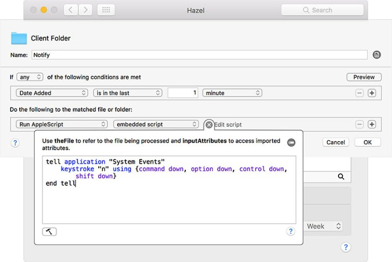 the applescript