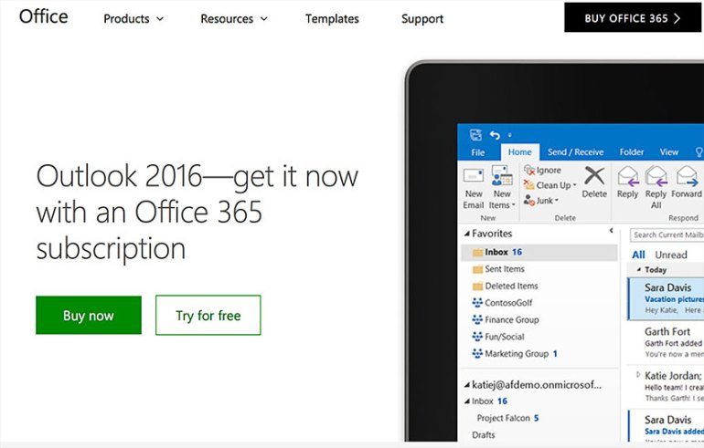 outlook online calendar app