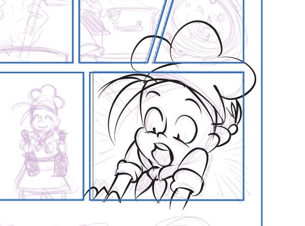 Inking un panel ignorando los bordes del marco