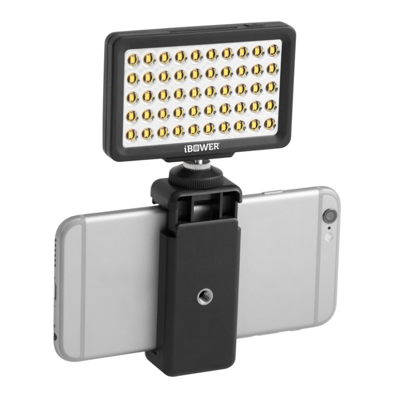 External light attached to smartphone