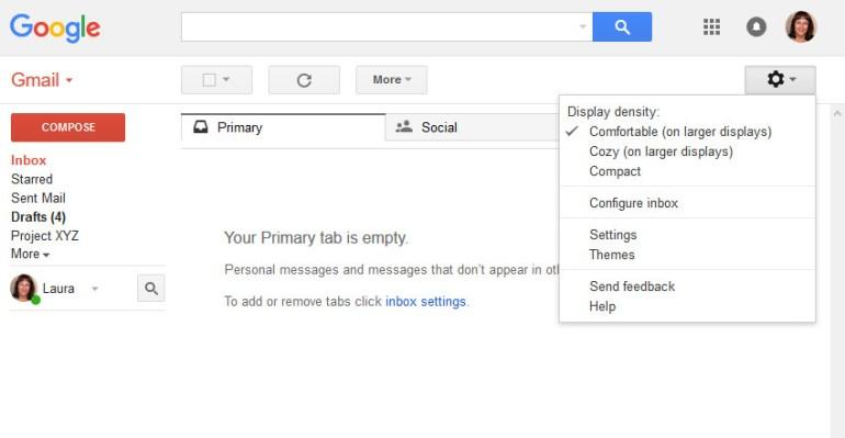 Open Gmail Settings