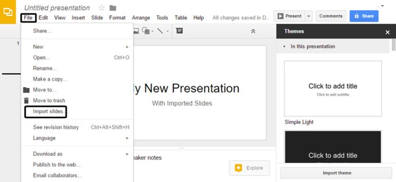 Import PowerPoint Slides into Google Slides