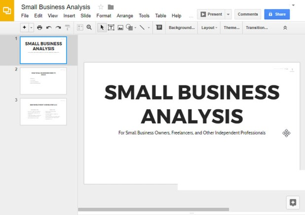 how to add transitions in google slides