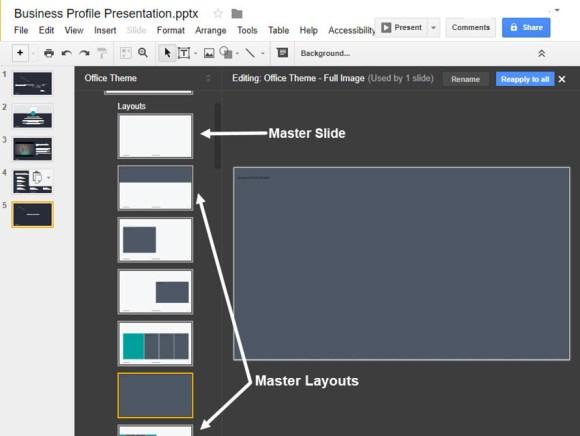 Alat Google Slides Master Slides